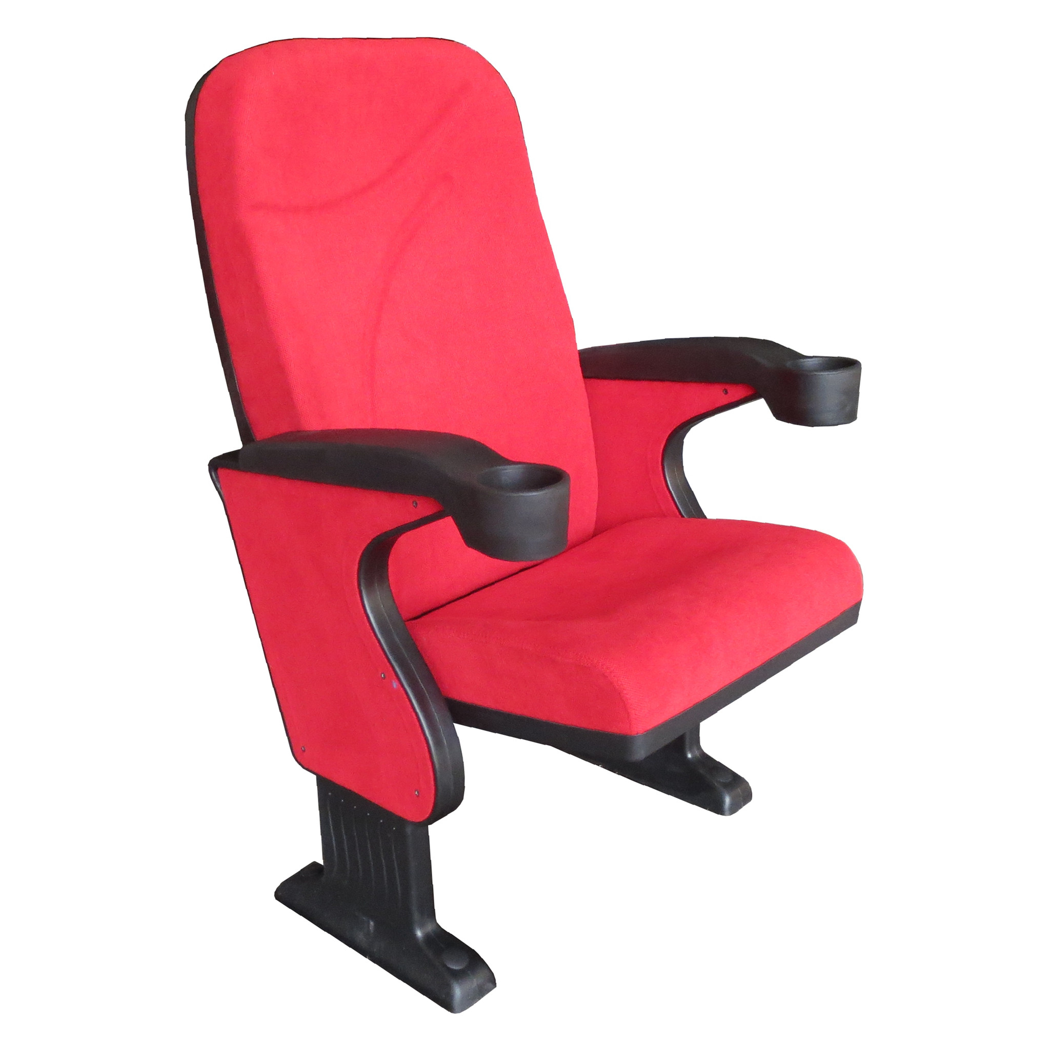 BOLTON S60 - Auditorium, Cinema, Movie Theatre Chair with Integrated Polyurethane Cup Holder- Turkey - Seatorium - Public Seating Manufacturer